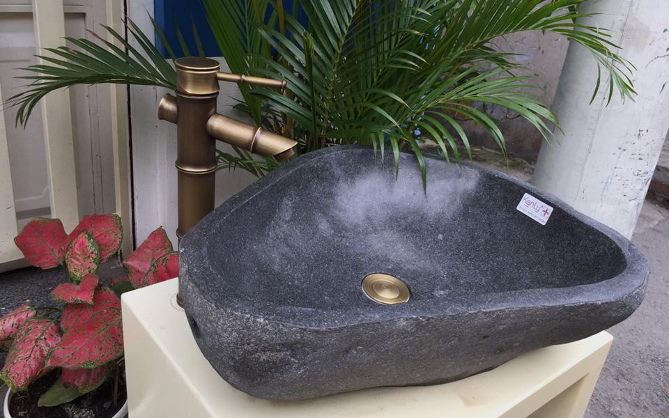 Lavabo đá cuội, lavabo bằng đá cuội tự nhiên