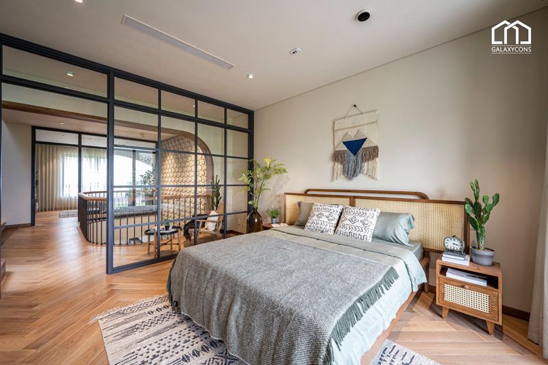 Phòng ngủ đều được thiết kế không gian thoải mái