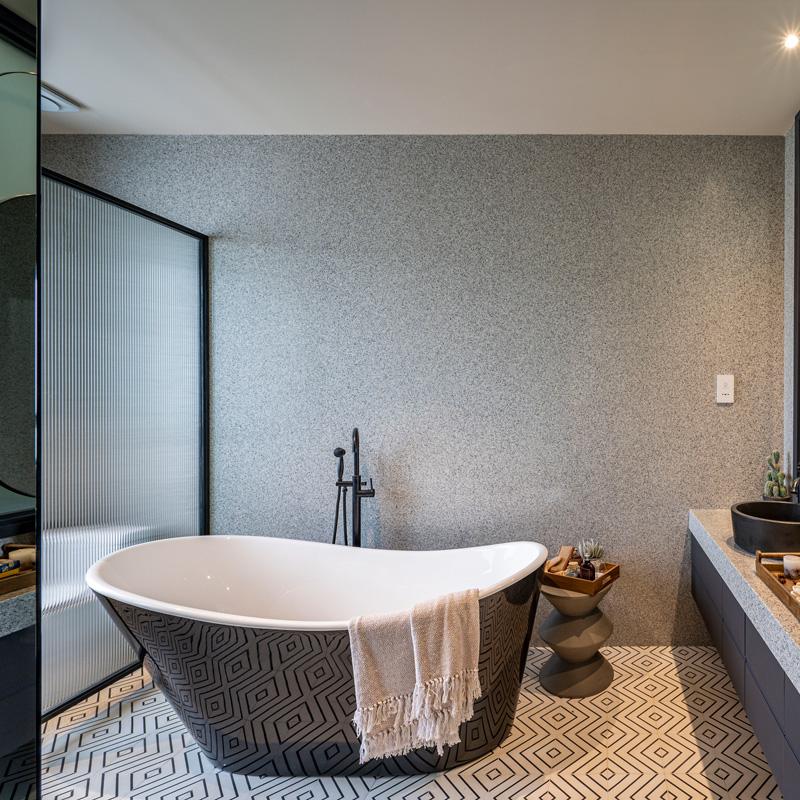 Những thiết bị vệ sinh phòng tắm tại nhà mẫu Deluxe Green House do KanLy cung cấp