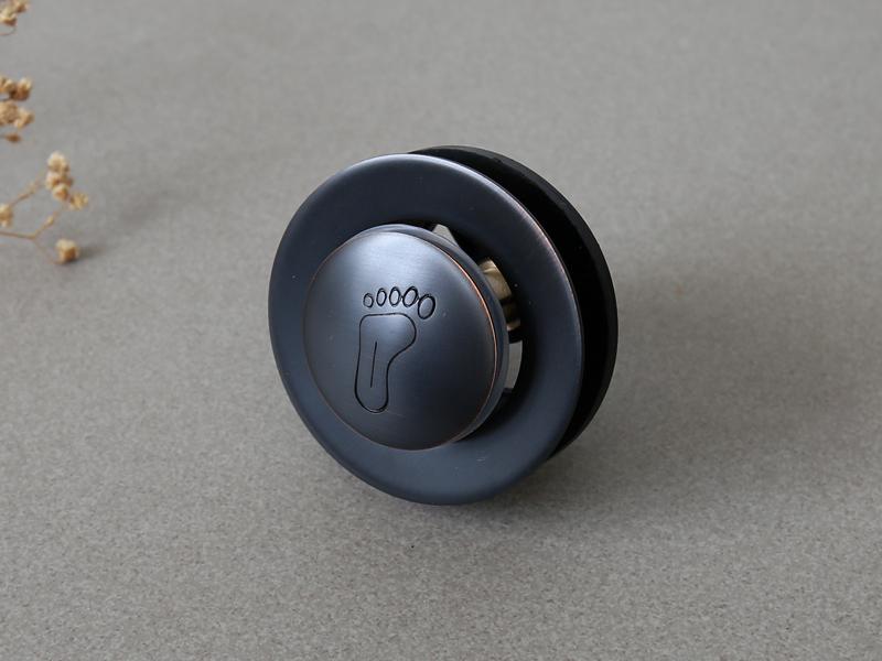 Đầu xả bồn tắm nằm GCX00B màu đen cổ điển