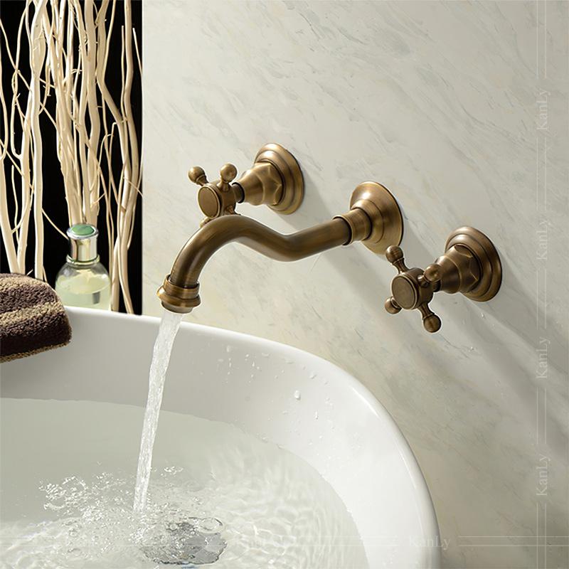 Vòi nước âm tường bằng đồng thau, phong cách hoàng gia sang trọng