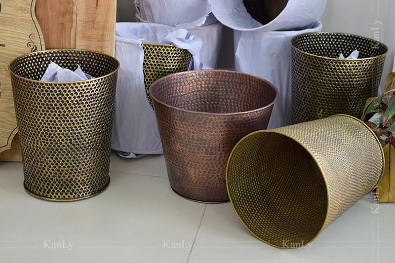 Thùng rác, sọt rác khách sạn bằng đồng thau handmade