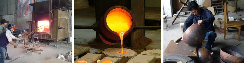 sản xuất chậu rửa bằng đồng thau