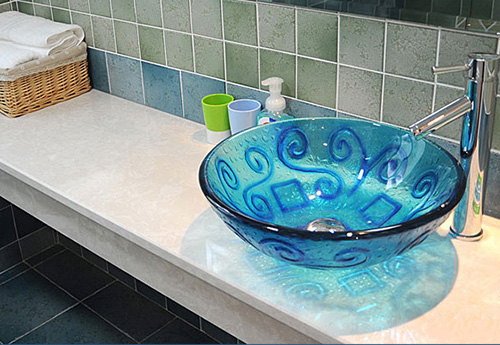chậu rửa mặt bằng thủy tinh, lavabo thủy tinh