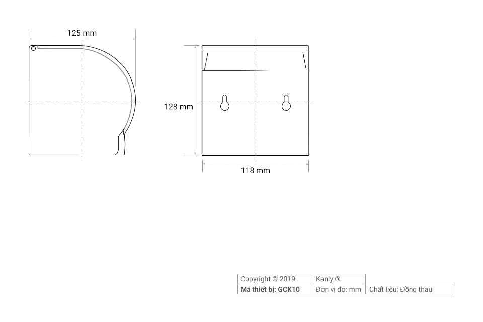 Thông số chi tiết hộp giấy vệ sinh treo tường
