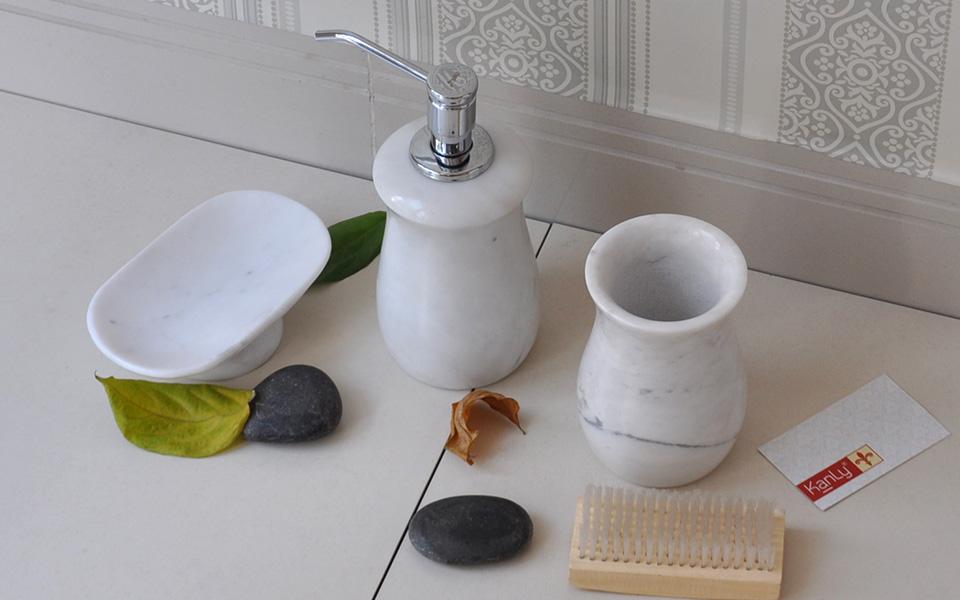 Bộ đồ dùng nhà tắm bằng đá, phụ kiện