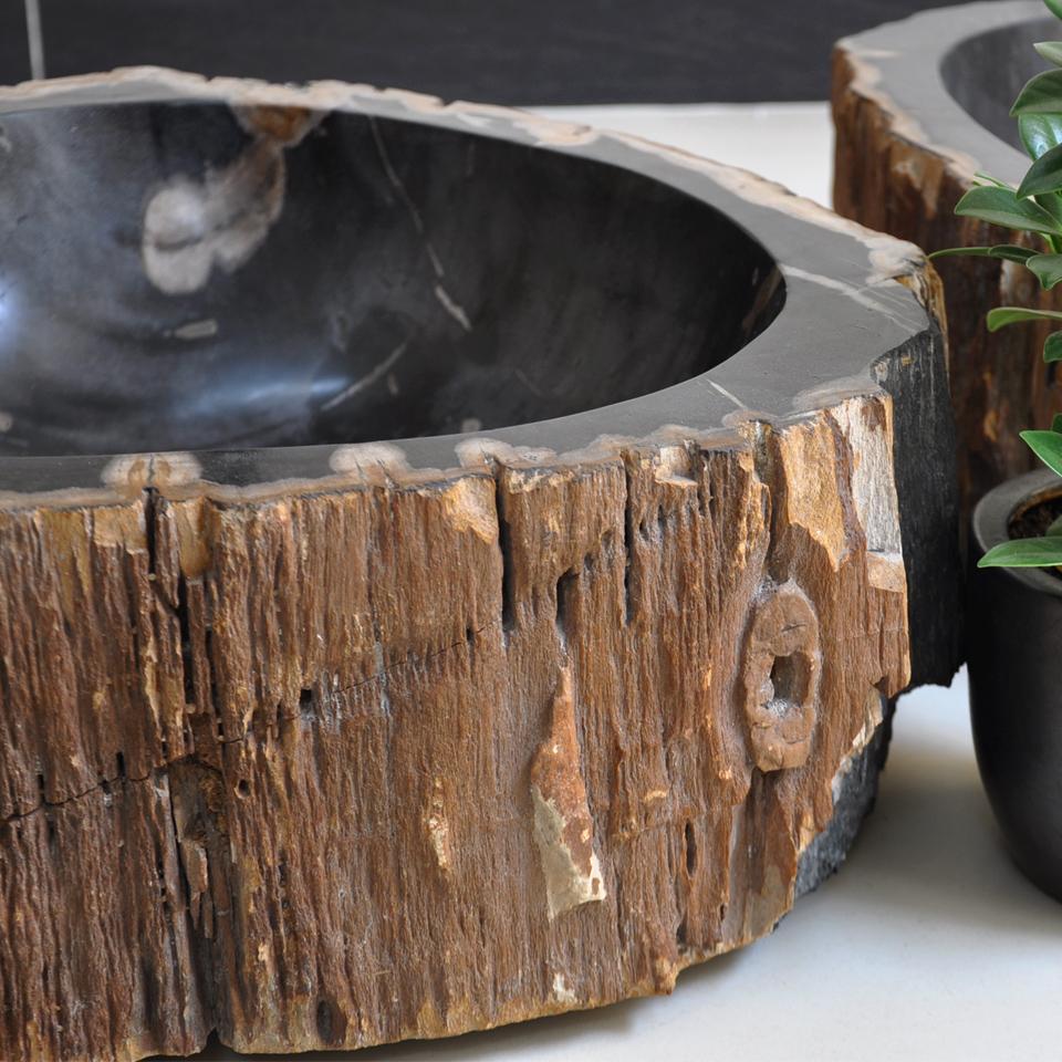 Chậu rửa mặt, rửa tay, Lavabo, bằng gỗ hóa thạch, lavabo gỗ, tự nhiên