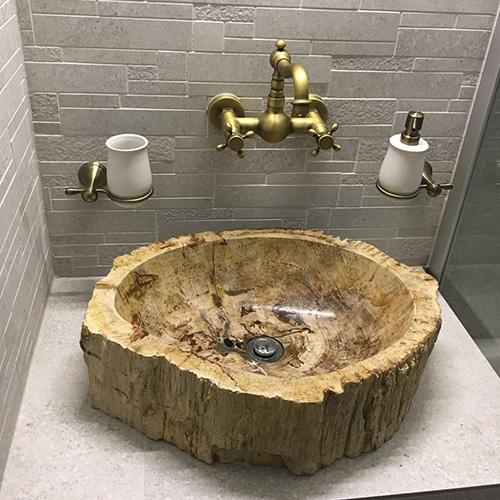Lavabo gỗ hóa thạch, lavabo gỗ
