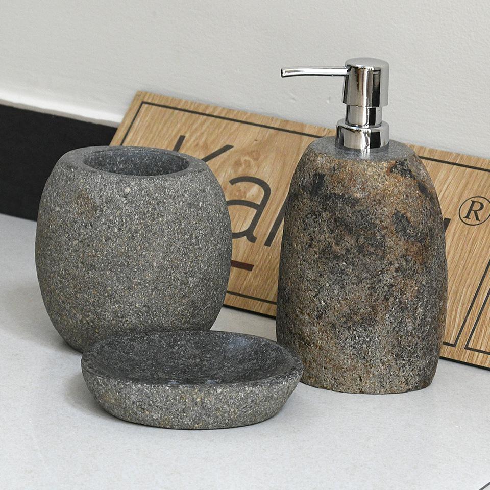 Bộ bình, hủ, chai, lọ, cốc, đựng, đá cuội , phòng tắm, nhà tắm