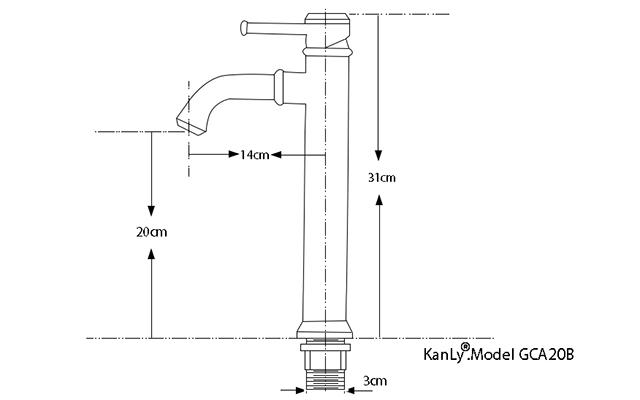 Vòi nước nóng lạnh lavabo