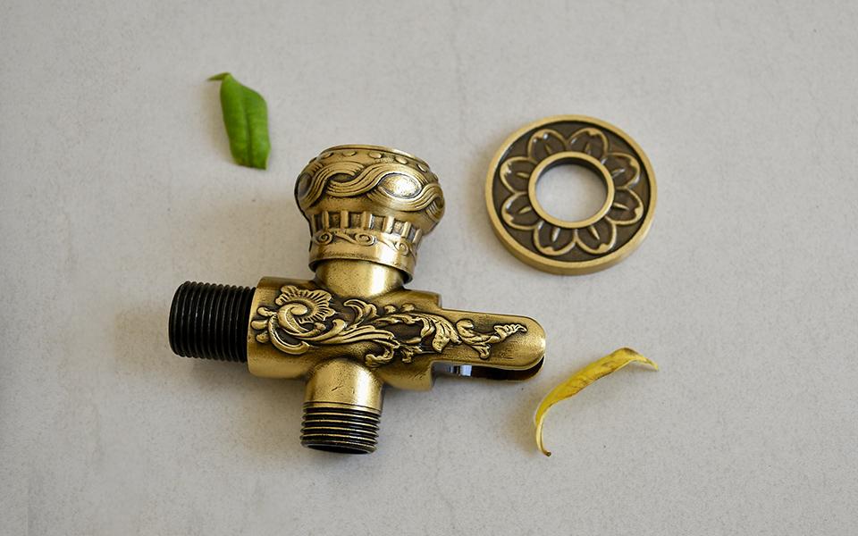 Vòi rửa chén cổ điển, bằng đồng thau, nóng lạnh