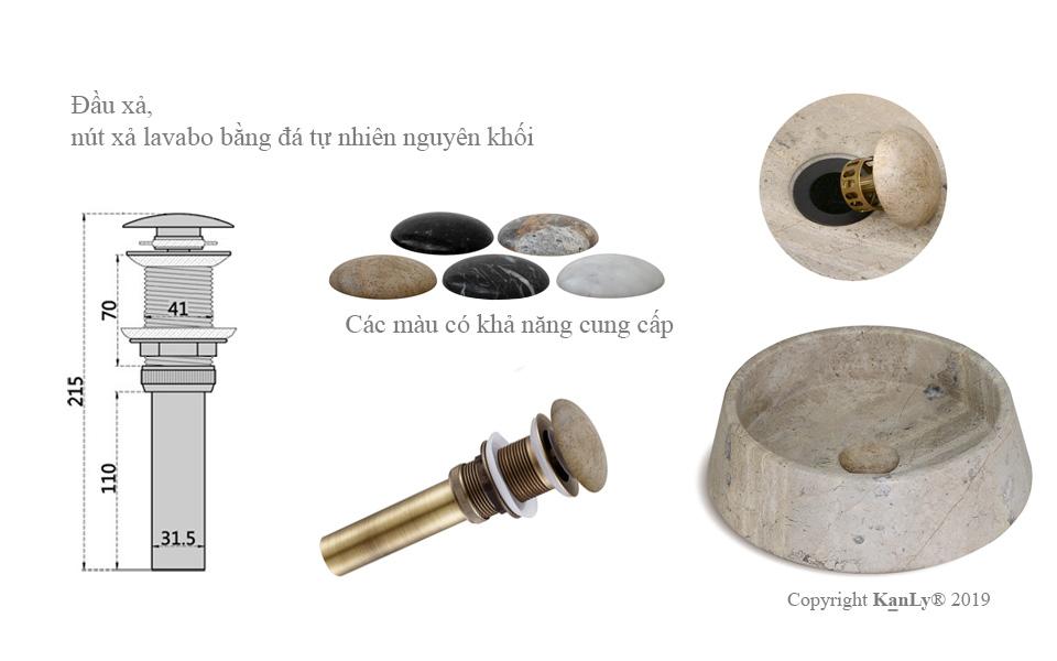 bộ xả dùng cho lavabo bằng đá