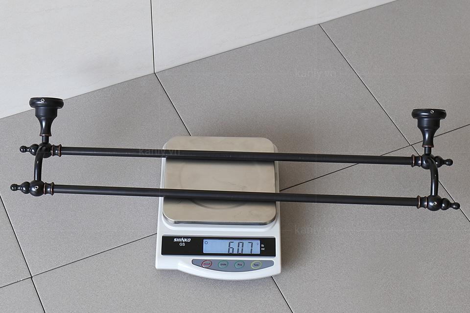 Trọng lượng giá treo khăn tắm 2 tầng GCK12B