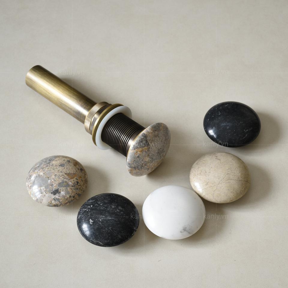 Nút nhấn đầu xả nước bằng đá tự nhiên