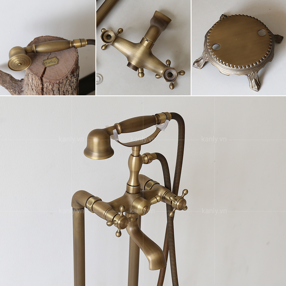 Chất liệu đồng của vòi sen đặt sàn cho bồn tắm GCS09