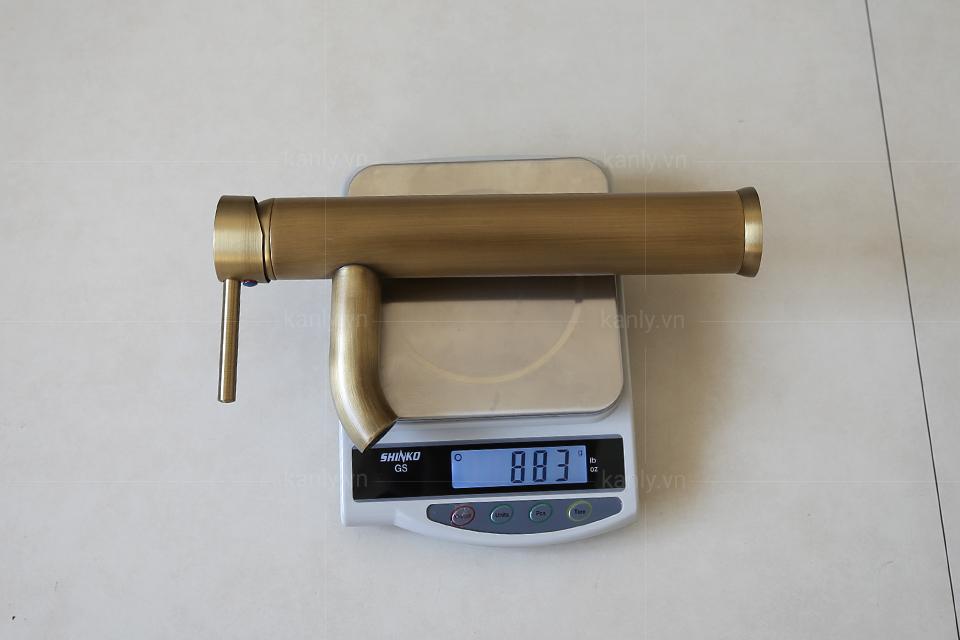 Vòi nước chậu rửa mặt bằng đồng nặng, dày chất lượng