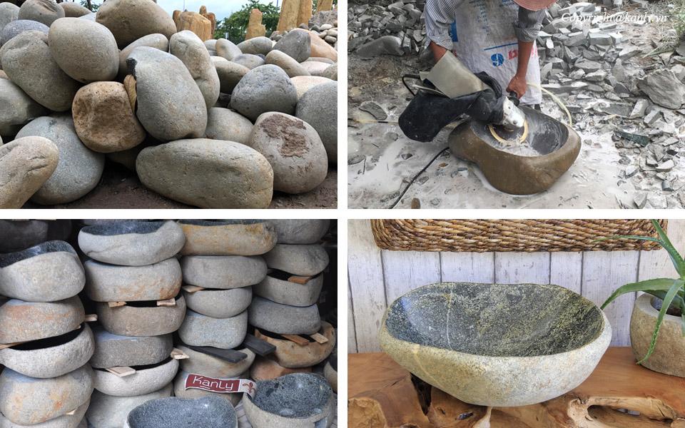Nguồn gốc của chậu đá cuội tự nhiên, lavabo đá cuội