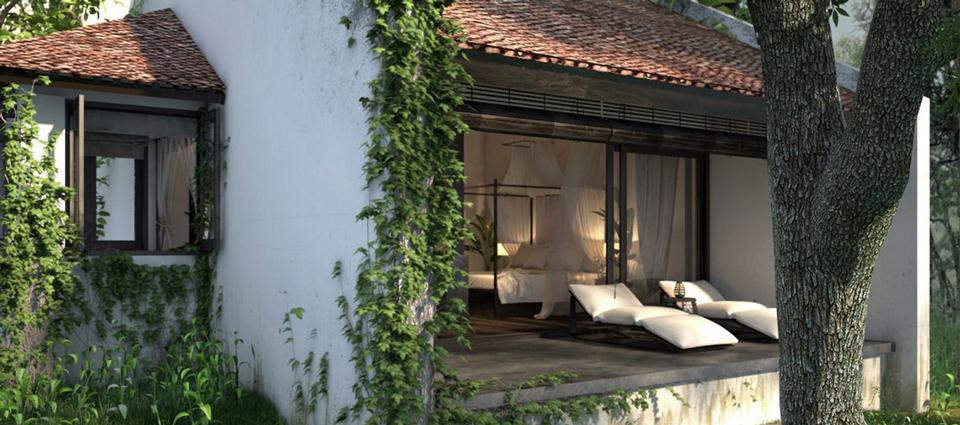Không gian thiên nhiên tuyệt vời của resort ở Ninh Bình