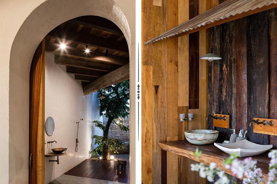 Ý tưởng thiết kế phòng tắm theo phong cách rustic, vintage