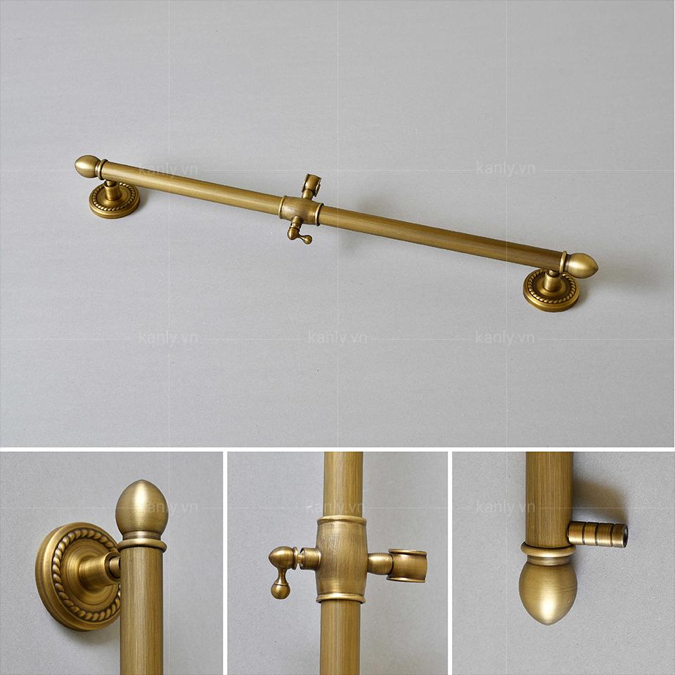 Thiết kế kiểu cổ điển thanh trượt sen tắm GCK37