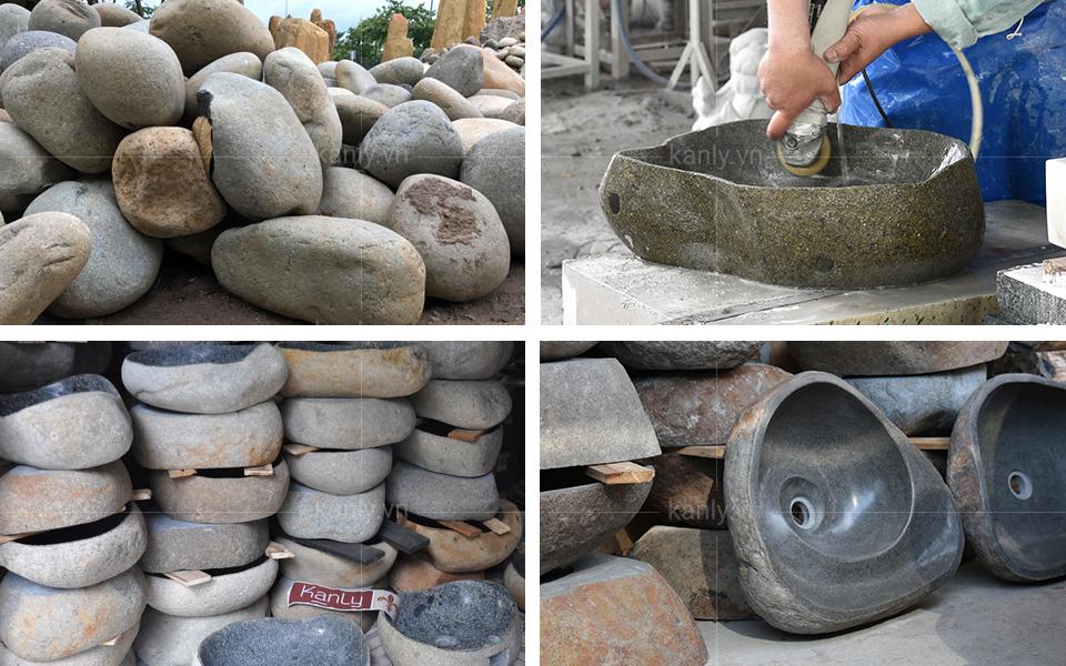 Quy cách hoàn thiện chiếc chậu lavabo đá tự nhiên MAR15Si