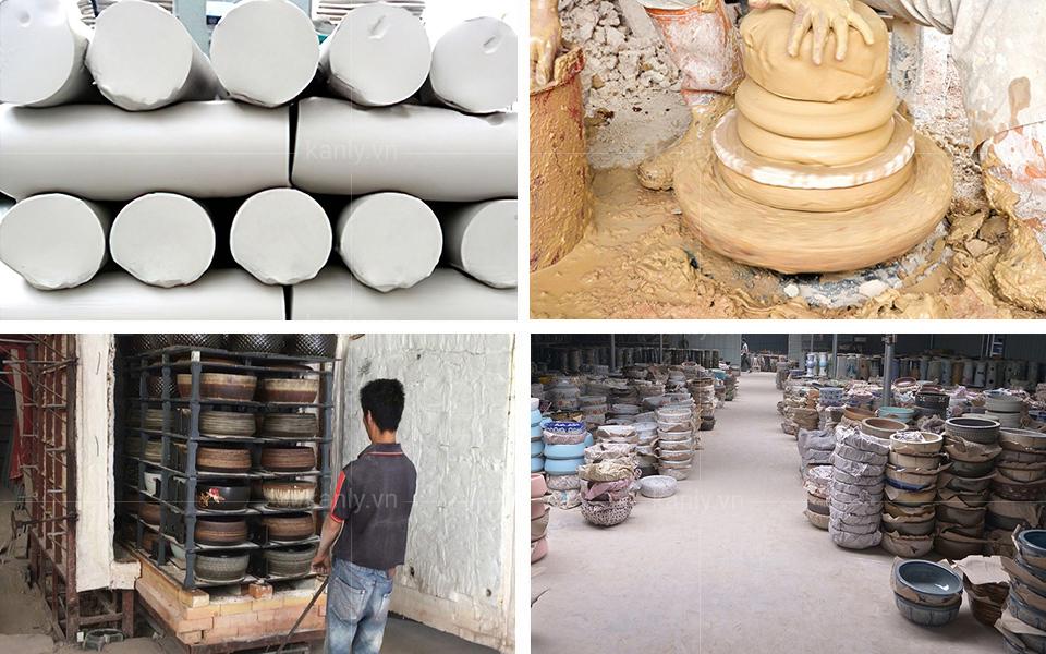 Cách sản xuất chậu lavabo gốm sứ SU012