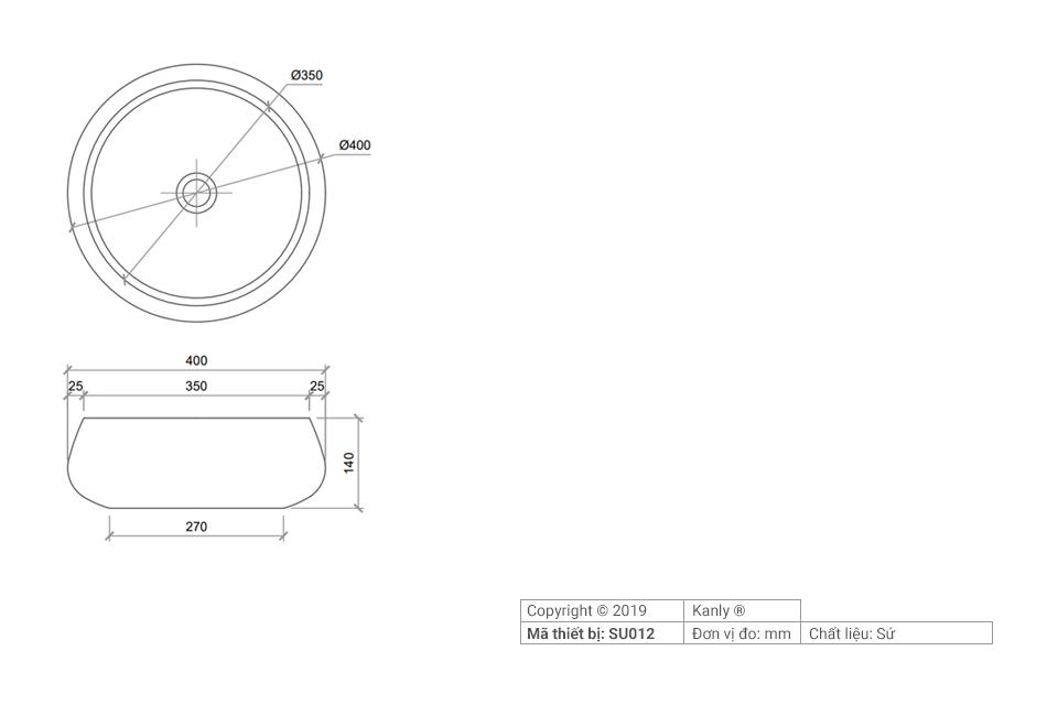 Thông tin chi tiết lắp đặt chậu rửa mặt lavabo sứ SU012