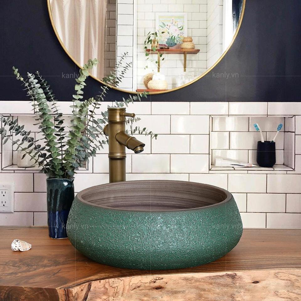 Chậu rửa mặt lavabo sứ SU012