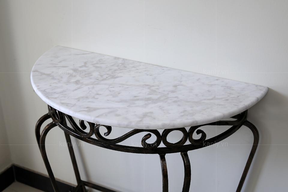 Mặt bàn để lavabo hình bán nguyệt FP06