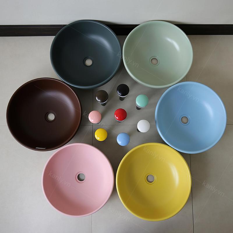 Bộ sưu tập chậu lavabo gốm sứ đa dạng màu sắc của KanLy