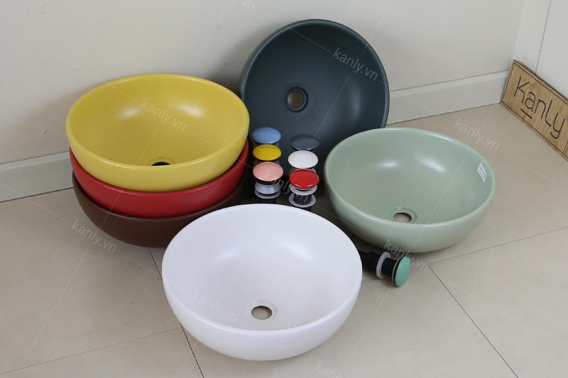 Bộ sưu tập nhiều màu của lavabo sứ mỹ thuật KanLy