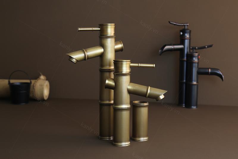 Vòi nước thân thấp có thể tùy chỉnh gắn thêm ống đồng