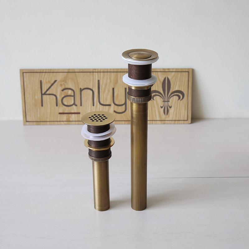 Bộ xả lavabo ngắn và dài do KanLy cung cấp