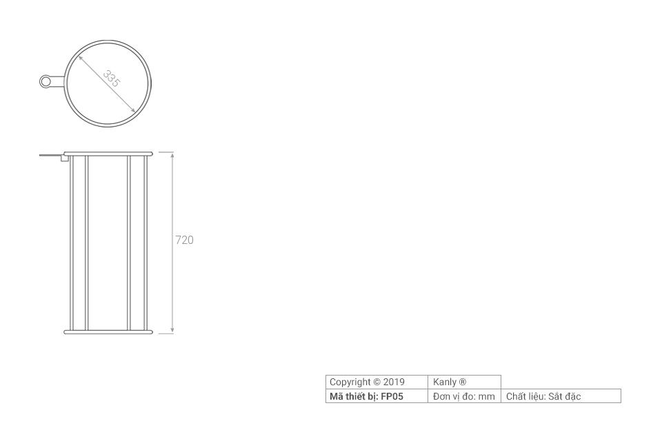 Thông số chi tiết lắp đặt khung sắt đỡ lavabo FP05