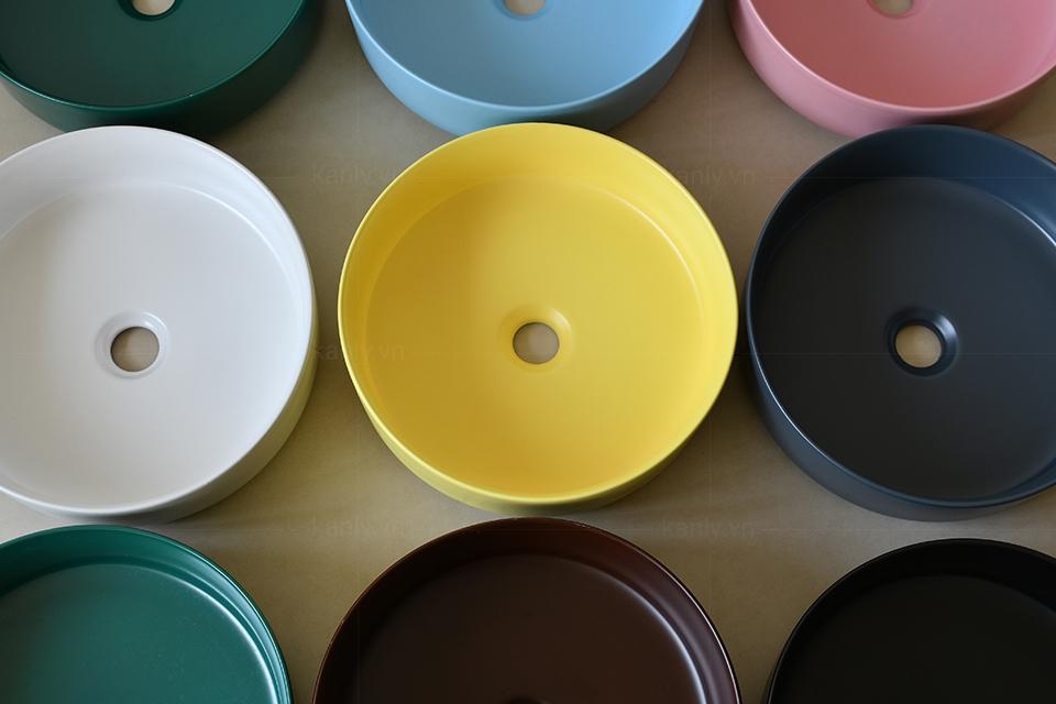 Bộ sưu tập đầy đủ màu sắc của chậu rửa mặt ceramic
