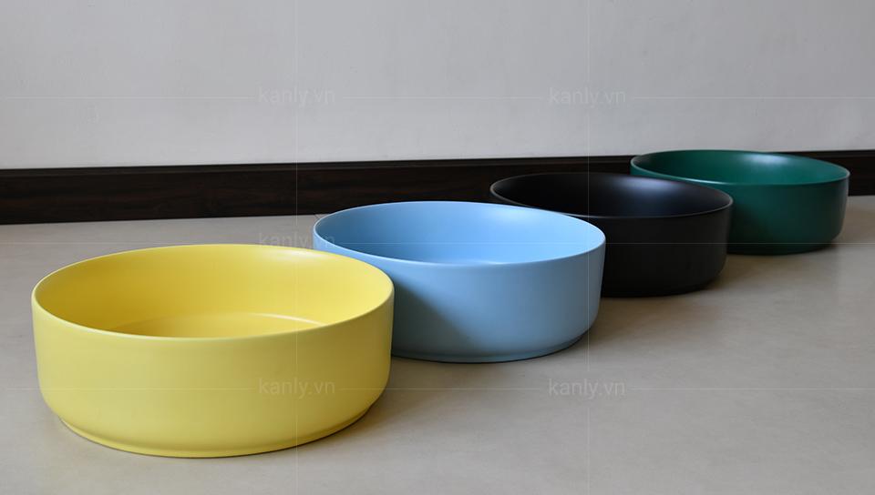 Bộ sưu tập màu sắc đa dạng chậu ceramicc