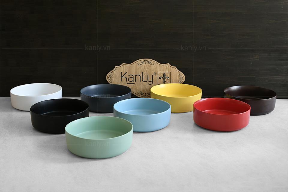 Bộ sưu tập chậu sứ côn thêm giải pháp chọn lựa sắc màu