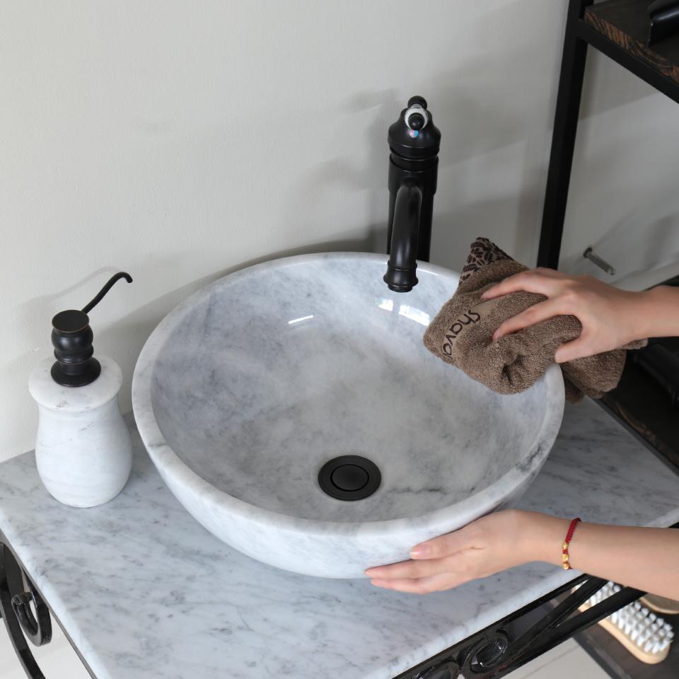 Vệ sinh và sử dụng đúng cách đối với lavabo đá tự nhiên