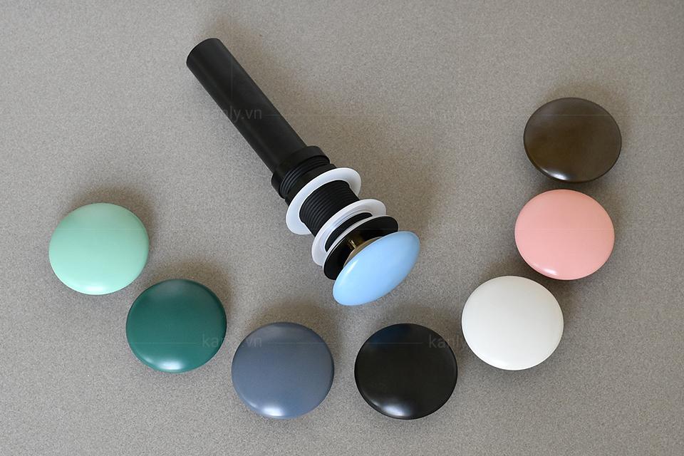 Nút xả nhấn cho lavabo sứ màu
