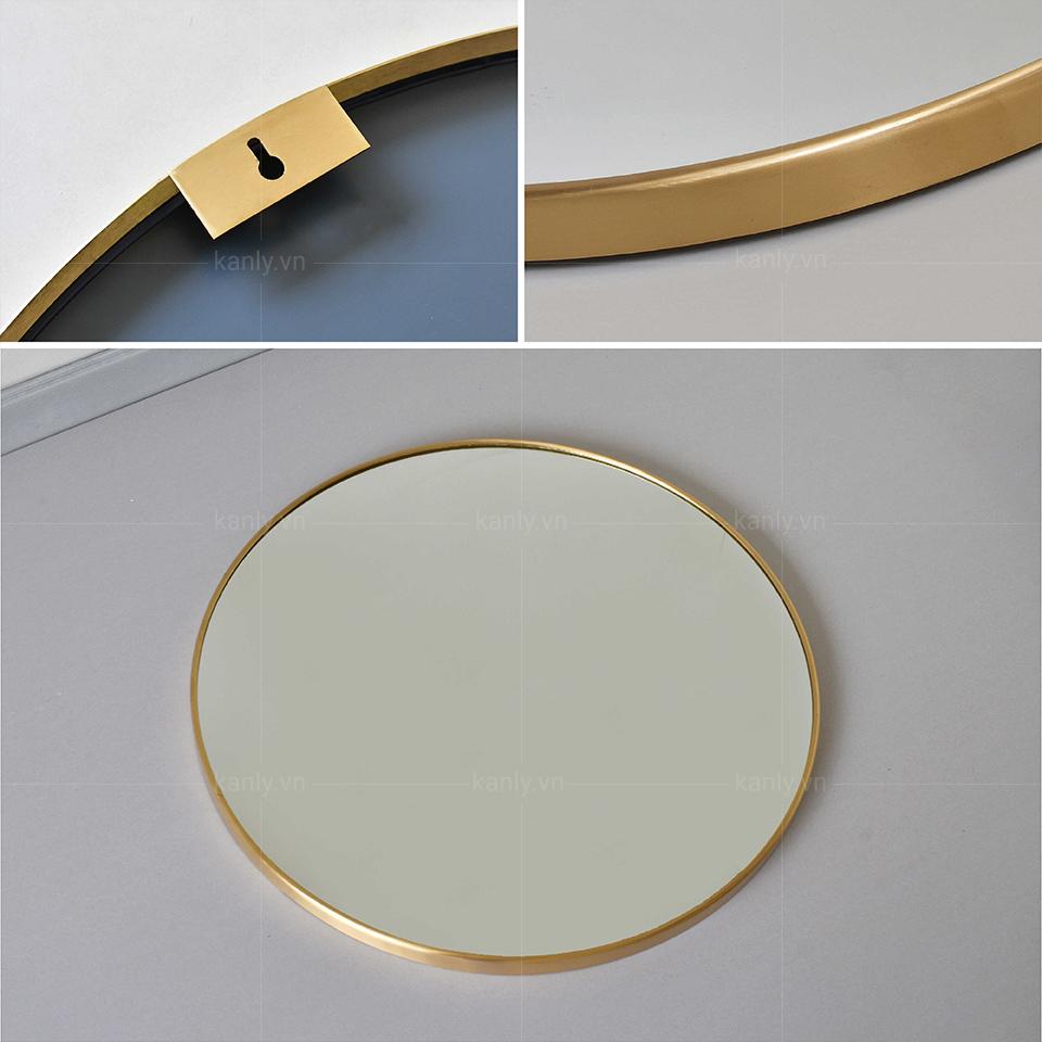 Thiết kế thanh thoát của gương tròn treo tường