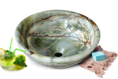 Lavabo bằng đá onyx RY11