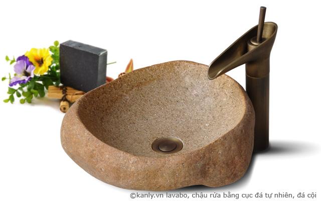 lavabo đá cuội