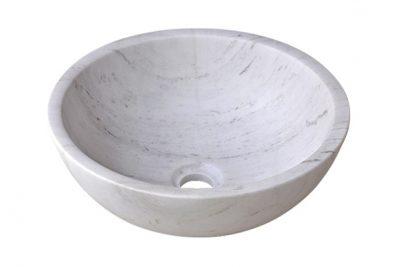 Chậu lavabo đá tự nhiên trắng sữa MAR13V