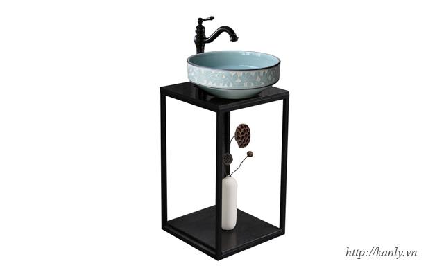 khung đỡ bàn đá lavabo, chậu rửa mặt nhỏ nhất