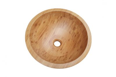 Lavabo bằng gỗ, bồn, chậu rửa mặt bằng gỗ tre ghép làm cho gian phòng tắm nhà bạn thêm cảm giác hòa thiên nhiên, một cảm giác giản dị thanh bình