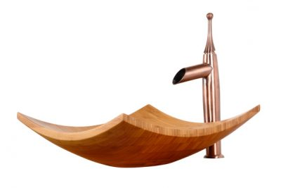 lavabo bằng gỗ, bồn, chậu rửa mặt bằng gỗ tre ghép.