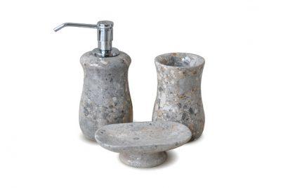 Bộ lọ đựng trong phòng tắm bằng đá nguyên khối