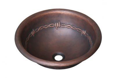 Chậu Lavabo âm bàn RSC323 bằng chất liệu đồng mang vẻ đẹp mỹ thuật mộc mạc, tự nhiên