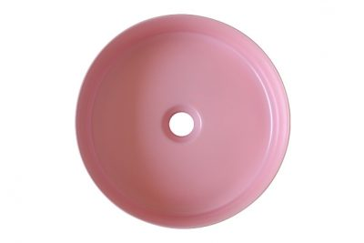 Lavabo sứ màu hồng Pastel mờ mang phong cách thanh lịch, sang trọng và mới mẻ