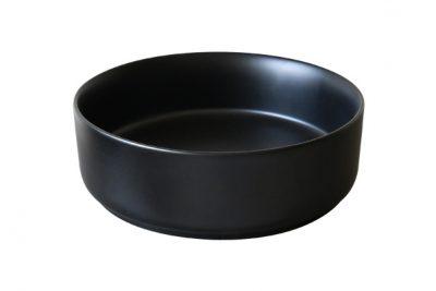 Chậu rửa mặt màu đen SU522 với lớp tráng men mờ sang trọng, phong cách thiết kế đơn giản, hiện đại và mang đến sự tinh tế cho không gian kiến trúc phòng tắm